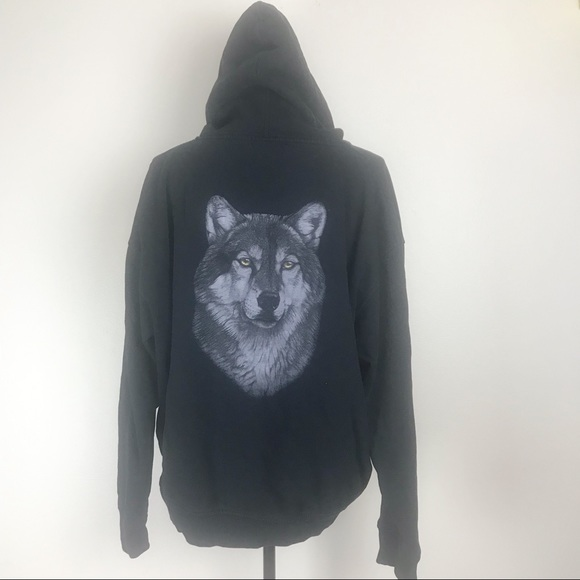The Bradford Exchange Other - The Bradford Exchange Lone Wolf Hoodie by Al Agnew